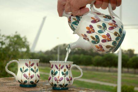 Enuso cerámica juego de tazas