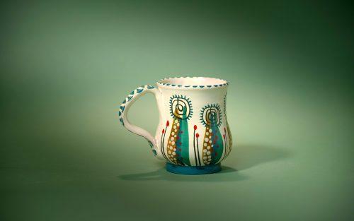 taza verde pequeña